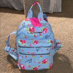 NWT Betsy Johnson Floral Backpack purse